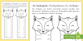 Der Rechenfuchs 5er Malfolge Mathe Profi- Aufgaben - Mathematik: Zahlen, Rechnen, Multiplikation, maths, numbers, counting, times tables, multiplication,