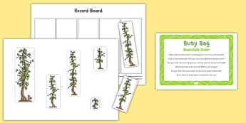 Beanstalk Order to Support Teaching on Jasper's Beanstalk - height, length, order, mathematics, EYFS