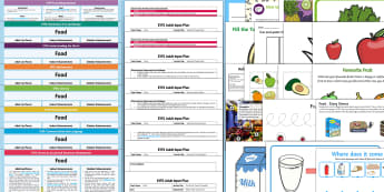 EYFS Food-Themed Lesson Plan, Enhancement Ideas and Resources Pack - planning, food, teeach, fewer, eyfa