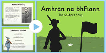 Amhrán na bhFiann Information PowerPoint - Amhrán na bhFiann, amhran na bhfiannm irish national anthem, ireland national anthem, 1916 resources, seachtain na gaeilge, gaeilge roi, music roi, history roi