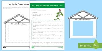 My Little Greenhouse Activity Pack - Early Childhood Plants, Pre-K Plants, Plants, Pre-Kindergarten Plants, K4 Plants, 4K Plants, plant e