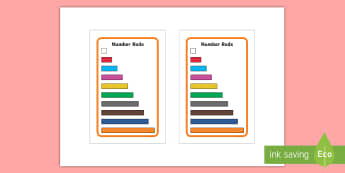 Number Rods Prompt IKEA Tolsby Frame - Cuisenaire, Number Rods, Display, Poster, Colour, small manipulative, concrete, visual,
