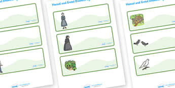 Hansel and Gretel Drawer-Peg-Name Labels - Hansel and Gretel, Brothers Grimm, Editable Drawer-Peg-Name Labels-Classroom Label Templates, Resource Labels, Name Labels, Editable Labels, Drawer Labels, Coat Peg Labels, Peg Label, KS1 Labels, Foundation