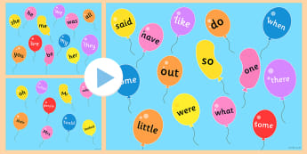 Phase 2 to 5 Tricky Words on Popping Balloons PowerPoint - Phase 2 to 5 Tricky Words on Popping Balloons PowerPoint - phase 5, phonemes, balloons,phonems,ballo