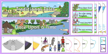 Traditional Tales Discover and Learn  Display Pack - Discover and Learn, Display, traditional tales, story, stories, fairy tale, fairytale, characters