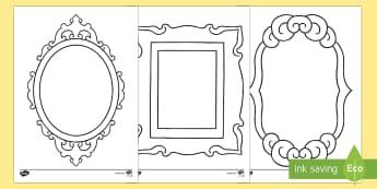 Doodle Draft Fancy Picture Frames Worksheet / Activity Sheet-Irish - ROI, Ireland, doodle, draft, sketch, starter, creative, drawing, art, worksheet / activity sheet,Irish, workshee