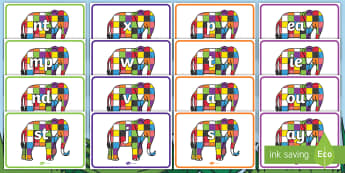 Phase 2-5 Phoneme Set On Elmer to Support Teaching on Elmer - phase 3, phase 4, phonemes