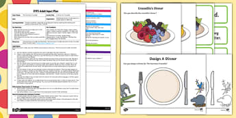 EYFS A Dinner for Crocodile Adult Input Plan and Resource Pack to Support Teaching on The Enormous Crocodile