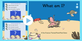 EYFS Under the Sea What Am I Interactive PowerPoint Game Photos