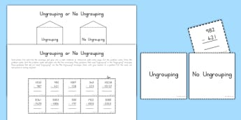 Ungrouping Subtraction Interactive Math Activity - usa, america, interactive, subtraction, ungrouping