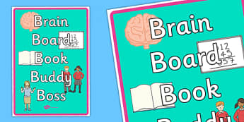 Brain Book Board Buddy Boss Display Poster - posters, displays