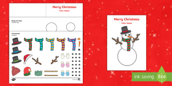 Design Your Own Snowman Christmas Cards English/Portuguese - Design Your Own Snowman Christmas Cards - Christmas, xmas, Happy Christmas, tree, snowman, cards, ca