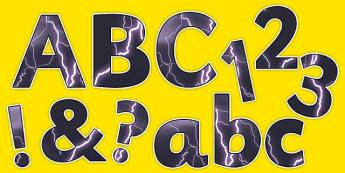Lightning Display Lettering - lightning, display lettering, display, lettering, letter