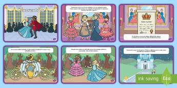 La storia di Cenerentola Poster - favola, sequenza, leggere, cenerella, materiale, scolastico, italiano, italian