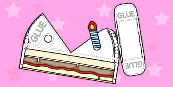 Simple Cake Slice Paper Model - paper, model, cake, slice, simple
