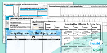 Computing: Scratch Year 5 Unit Assessment Pack
