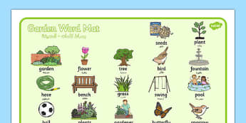 Garden Word Mat Arabic Translation - arabic, garden, word mat, word, mat, back garden, outside