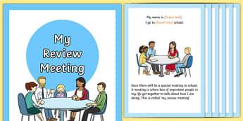 My Social Review Story - sen, eal, transition, meeting, personal, update, ks1, ks2, primary, senco, editable,