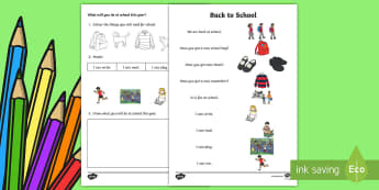 Back to School CfE Early Level Activity Sheet - back to school, primary one, new term, starting school, transition,Scottish, Worksheet