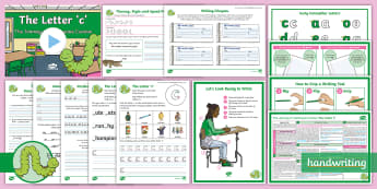 The Journey to Continuous Cursive: The Letter 'c' (Curly Caterpillar Family Help Card 1) KS2 Activity Pack - Nelson handwriting, penpals, fluent, joined, legible, handwriting