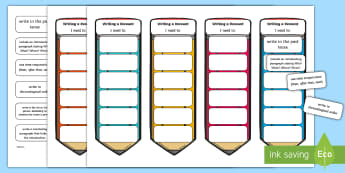 CfE Second Level Writing a Recount Editable Bookmarks - genres of writing, writing targets, Big Writing, Tools for writing, Pupil friendly writing checklist