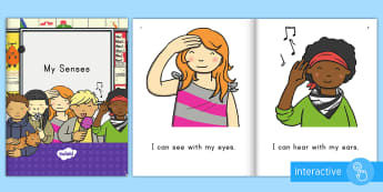 My Senses Emergent Reader eBook - all About Me, Five Senses, Hear, See, Taste, Touch, Smell, ELA, Early Literacy, Emergent Readers, Pr