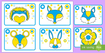 Woodland Blue, Yellow and White High Contrast Cards - EYFS Visual Stimulation for Babies, high contrast images for babies, newborn, infant, vision, eye de