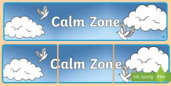 Calm Zone Display Banner - Calm Corner Display Banner - calm, corner, display banner, display, abnner