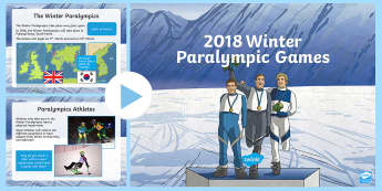 KS2 Winter Paralympics Assembly PowerPoint - events, winter, winter sports, olympics, mascots