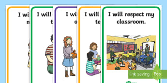 Respect in the Classroom Display Posters - display, posters, respect, behavior, expectations, rules, behavior, class charter
