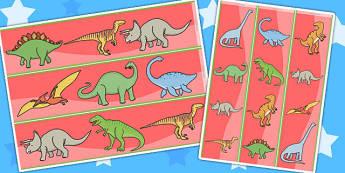 Dinosaurs Display Borders - Dinosaur, Display border, border, display, history, t-rex, stegosaurus, raptor, iguanodon, tyrannasaurus rex