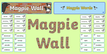 Magpie Wall Display Pack - english working wall, working wall, pie corbett, Alan Peat, English Display