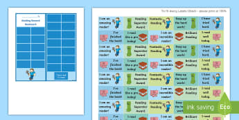 KS2 Block Explorer Reading Sticker Reward Bookmarks - Y3, home readers, reading log, stickers, motivation