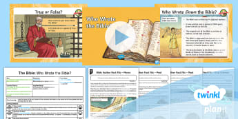 PlanIt RE: The Bible: Who Wrote the Bible? Year 4 Lesson 2 - worship, scripture, prayer, christian, christianity, religion, faith, holy book, sacred, drama, mose
