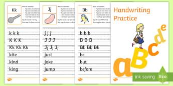 ABC Handwriting Activity - handwriting, alphabet, abc, letter formation, fine motor skills