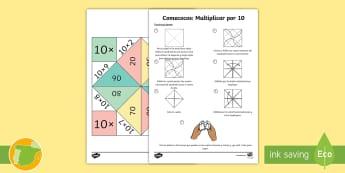 Comecocos: Multiplicar por 10 - juego, mates, matemáticas, por diez, x10,Scottish