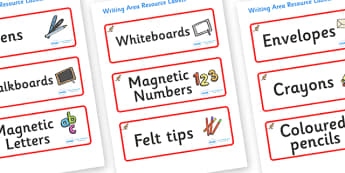 Kangaroo Themed Editable Writing Area Resource Labels - Themed writing resource labels, literacy area labels, writing area resources, Label template, Resource Label, Name Labels, Editable Labels, Drawer Labels, KS1 Labels, Foundation Labels, Foundati