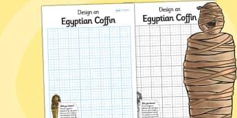 Design a Sarcophagus Activity - sarcophagus, egypt, egyptian