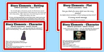 Guided Reading Skills Task Cards Story Elements Polish Translation - guided, reading, story, polish