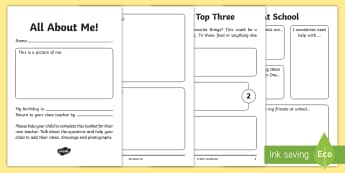 All about Me Y1 to Y2 Transition Booklet - moving up, new class, new teacher, change, Parents
