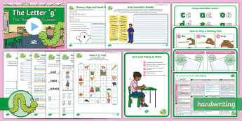 The Journey to Cursive: The Letter 'g' (Curly Caterpillar Family Help Card 6) KS1 Activity Pack - cursive, handwriting, joined, legible, fluent, curly caterpillar, nelson handwriting, penpals