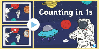 Space Themed Counting  PowerPoint - Space Themed Counting  PowerPoint - space, planets, solar system, counting, 1, counting in1s, countn