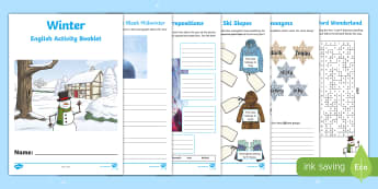 Year 3 Winter English Activity Booklet - holiday booklet, homework booklet, y3, spag, writing activity, reading activity, christmas holidays