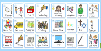 Year One And Two Visual Timetable - year 1, year 2, display