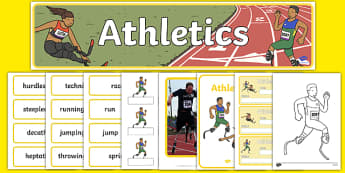 The Paralympic Events Athletics Resource Pack - Athletics, athlete, running, Paralympics, sports, wheelchair, visually impaired, pack, resource, resources, 2012, London, Olympics, events, medal, compete, Olympic Games