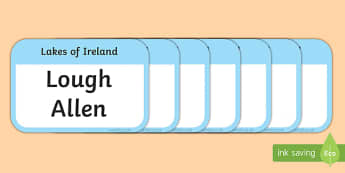Lakes of Ireland Flashcards-Irish