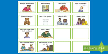 Anxiety or Worry KS2 Flashcards - young people, families, behaviour, stress, emotions, manage, anger, calm