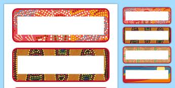 Editable Aboriginal Style Border Labels - Editable Aboriginal Style Border Desk Labels - aboriginal, label, aborginal, lebels, labeles, editbl