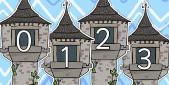 0 20 on Towers - numbers, number display, towers, buildings, 0-20