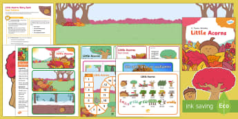 Little Acorns Story Sack Resource Pack - KS1, EYFS, home learning, parents, story activities, acorn, oak tree, growing, change, seasons, autu